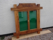 Church Notice Board. Constructed using reclaimed Oak  H130 x W150 cm £850