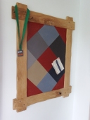 Made to order......Oak Diamond Pin-Board made using Linoleum self healing board H90 x W50 cm   £145 (all shapes cut by hand)
